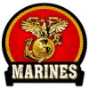 MARINES METAL SIGN