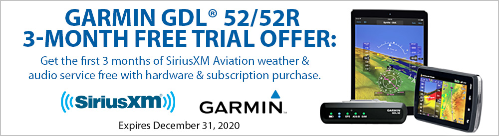 Garmin GDL 52/52R 3-Month Free Trial Offer